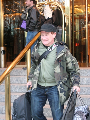 Robin Williams Paparazzi Shot by Giovanni Arnold