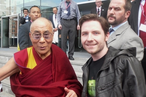Dalai Lama with Robert Swale