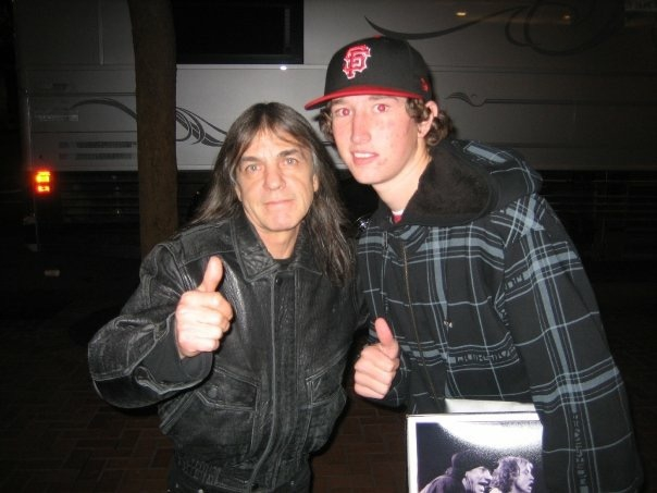 Malcolm Young Photo with RACC Autograph Collector MJM Authentics