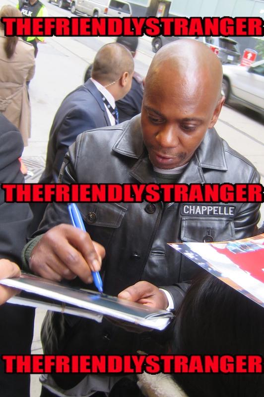 Dave Chappelle Signing Autographshoto by Authentic Autograph Dealer THEFRIENDLYSTRANGER