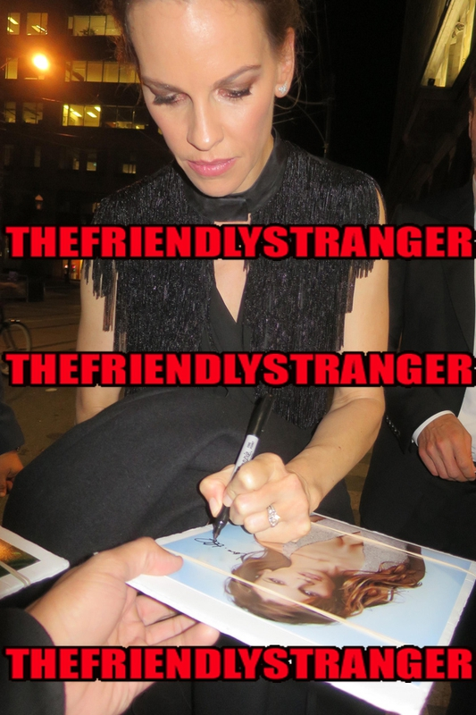 Hilary Swank Signing Autographshoto by Authentic Autograph Dealer THEFRIENDLYSTRANGER