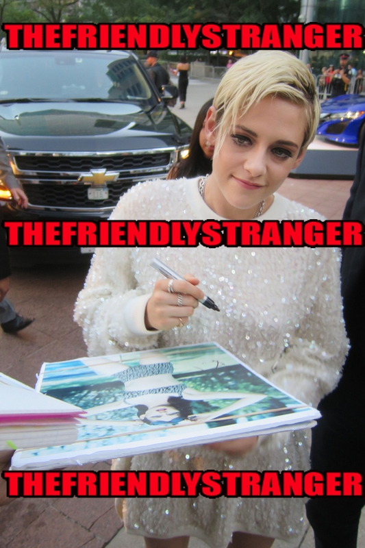 Kristen Stewart Signing Autographshoto by Authentic Autograph Dealer THEFRIENDLYSTRANGER