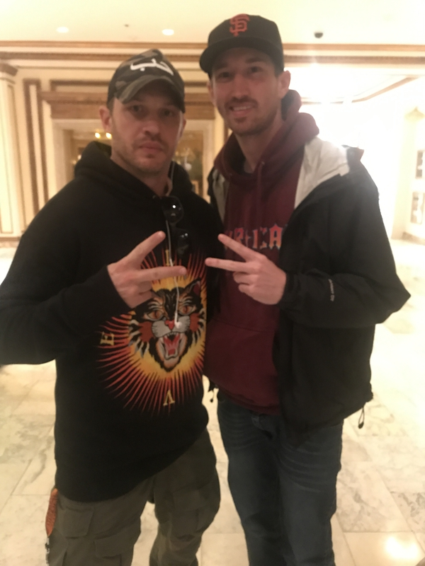 Tom Hardy Photo with RACC Autograph Collector MJM Authentics