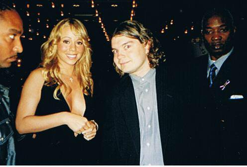 Mariah Carey Photo with RACC Autograph Collector Bob Pivoroff