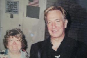 Alan Rickman with Sharon Howe