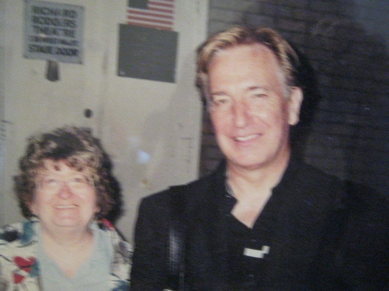 Alan Rickman Photo with Authentic Autograph Dealer Sharon Howe