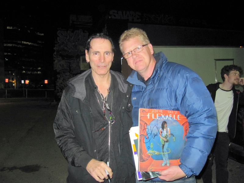 Steve Vai Photo with RACC Autograph Collector the45guy0