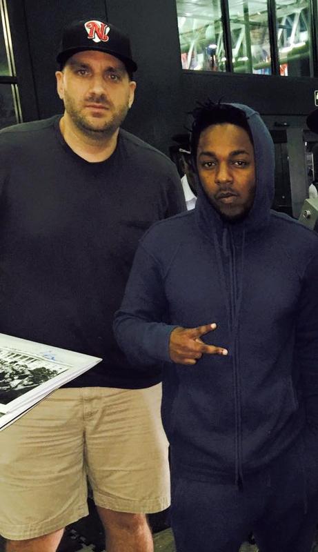 Kendrick Lamar Photo with Authentic Autograph Dealer Jason Shepherd