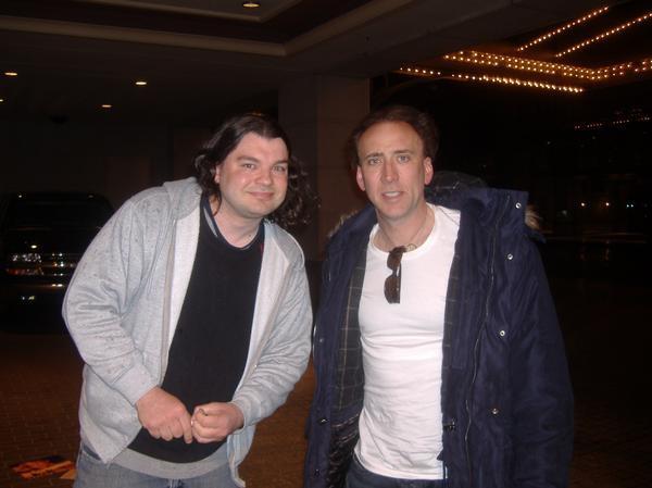 Nicolas Cage Photo with RACC Autograph Collector Bob Pivoroff