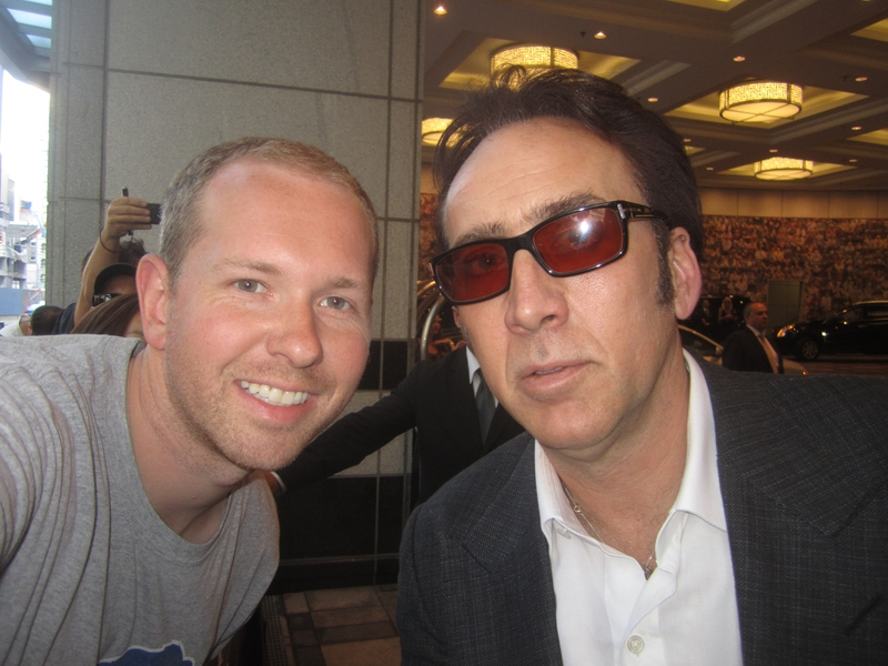 Nicolas Cage Photo with RACC Autograph Collector Breakaway Autographs