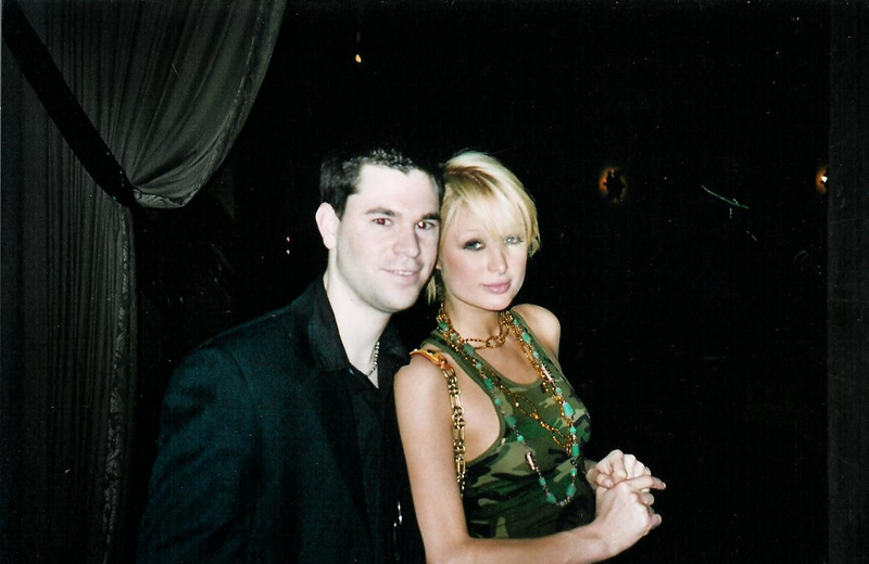 Paris Hilton Photo with Authentic Autograph Dealer Jeff Stenzel