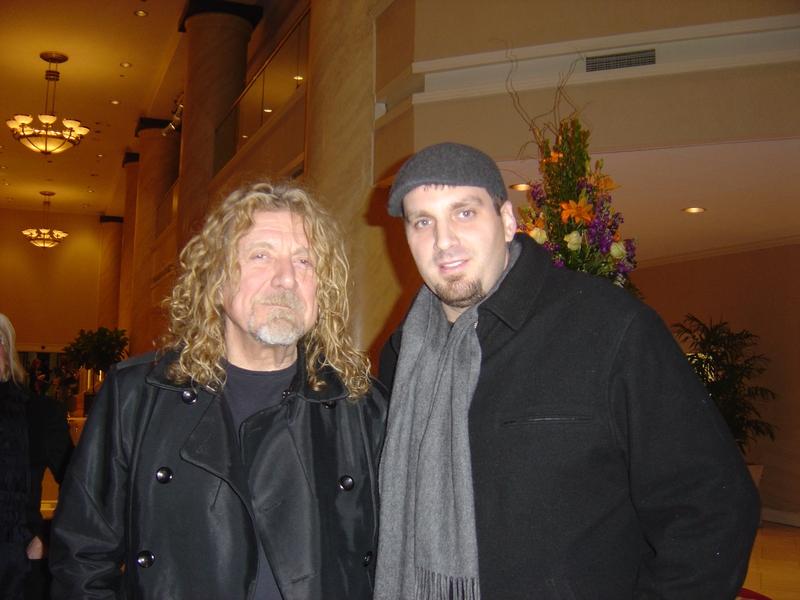Robert Plant Photo with Authentic Autograph Dealer Jason Shepherd