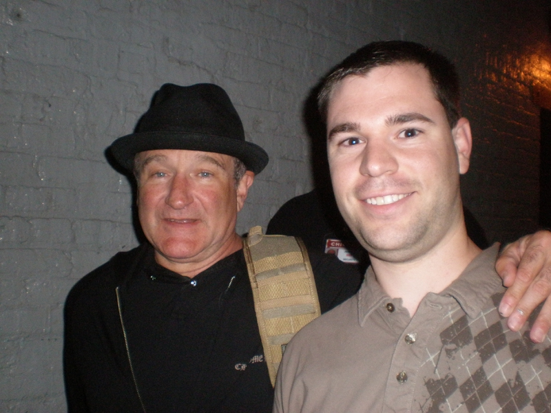 Robin Williams Photo with RACC Autograph Collector Jeff Stenzel