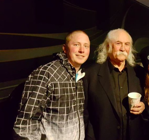 David Crosby Photo with RACC Autograph Collector Josh Lasure
