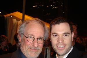 Steven Spielberg with Jeff Stenzel