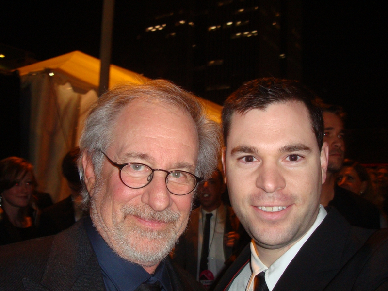 Steven Spielberg Photo with Authentic Autograph Dealer Jeff Stenzel