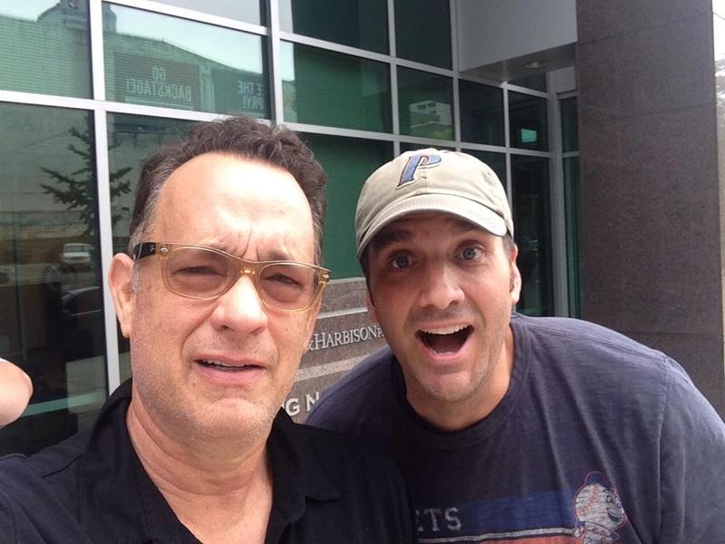 Tom Hanks Photo with Authentic Autograph Dealer Jason Shepherd