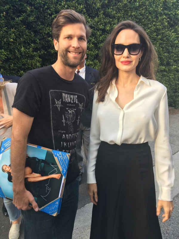 Angelina Jolie Photo with RACC Autograph Collector All-Star Signatures, LLC