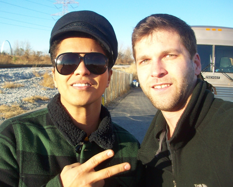 Bruno Mars Photo with RACC Autograph Collector All-Star Signatures, LLC