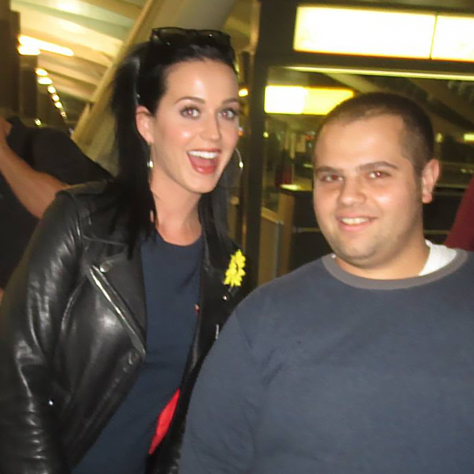 Katy Perry Photo with Authentic Autograph Dealer Wolf Autographs NYC