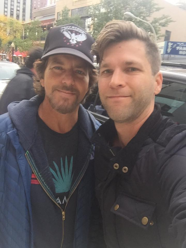 Eddie Vedder Photo with RACC Autograph Collector All-Star Signatures, LLC