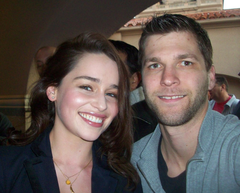 Emilia Clarke Photo with RACC Autograph Collector All-Star Signatures, LLC