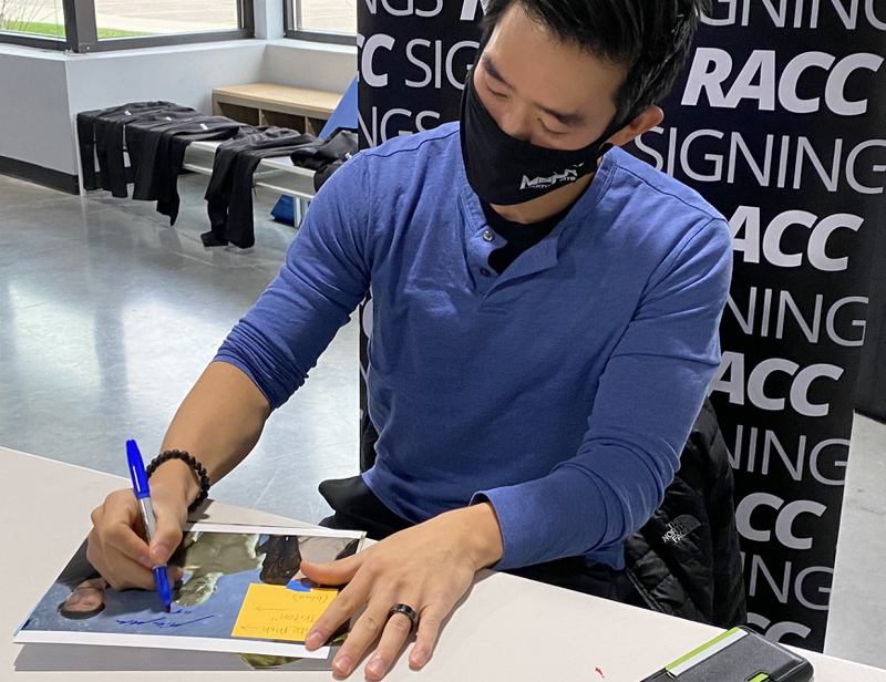 Mike Moh Signing Autograph for RACC Autograph Collector Certified Sigs