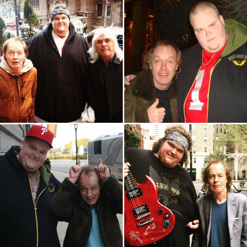 Angus Young Photo with Authentic Autograph Dealer Piece Of History Collectibles