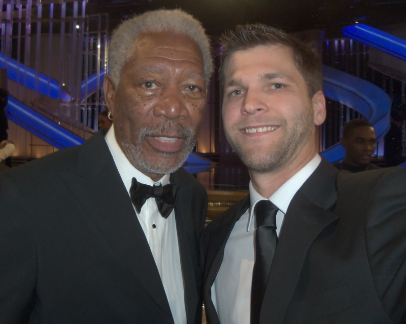 Morgan Freeman Photo with RACC Autograph Collector All-Star Signatures, LLC