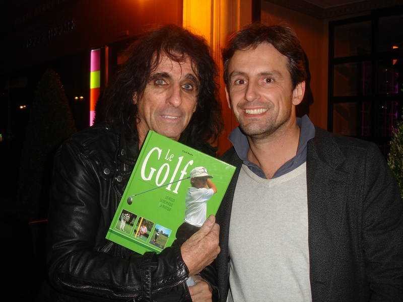 Alice Cooper Photo with RACC Autograph Collector CB Autographs