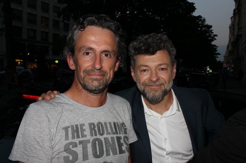 Andy Serkis Photo with RACC Autograph Collector CB Autographs