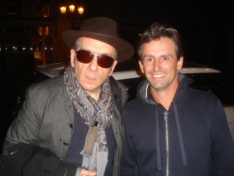 Elvis Costello Photo with Authentic Autograph Dealer CB Autographs