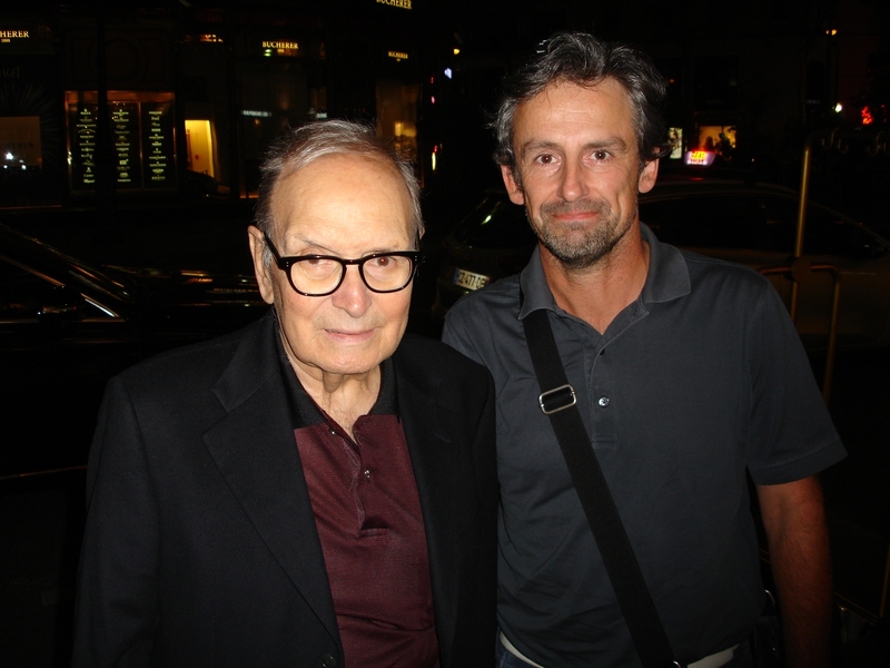 Ennio Morricone Photo with RACC Autograph Collector CB Autographs
