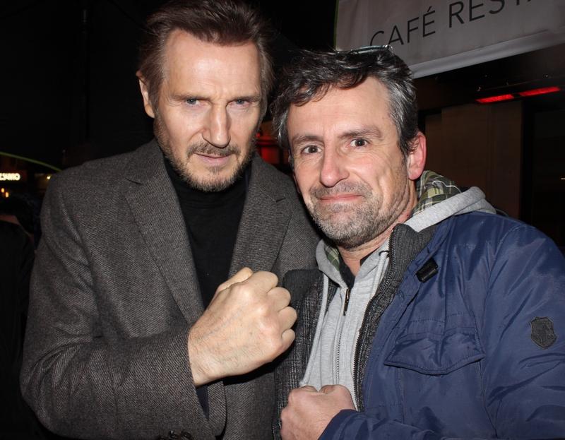 Liam Neeson Photo with RACC Autograph Collector CB Autographs