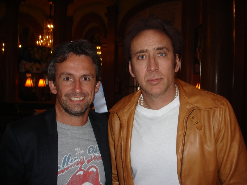 Nicolas Cage Photo with RACC Autograph Collector CB Autographs