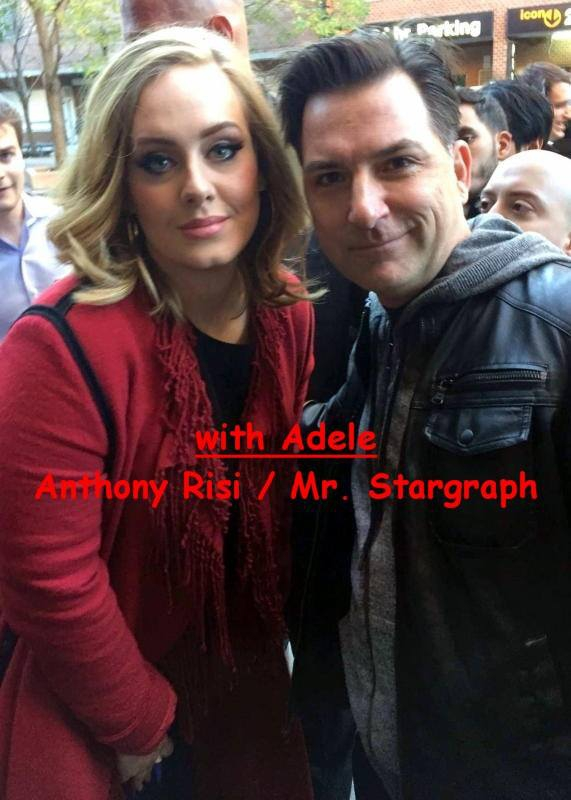 Adele Photo with RACC Autograph Collector Anthony Risi