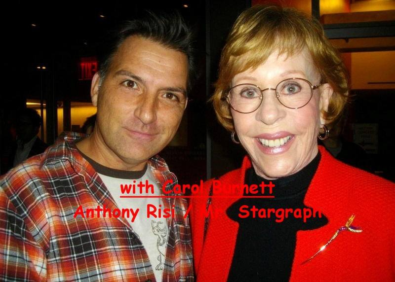 Carol Burnett Photo with RACC Autograph Collector Anthony Risi