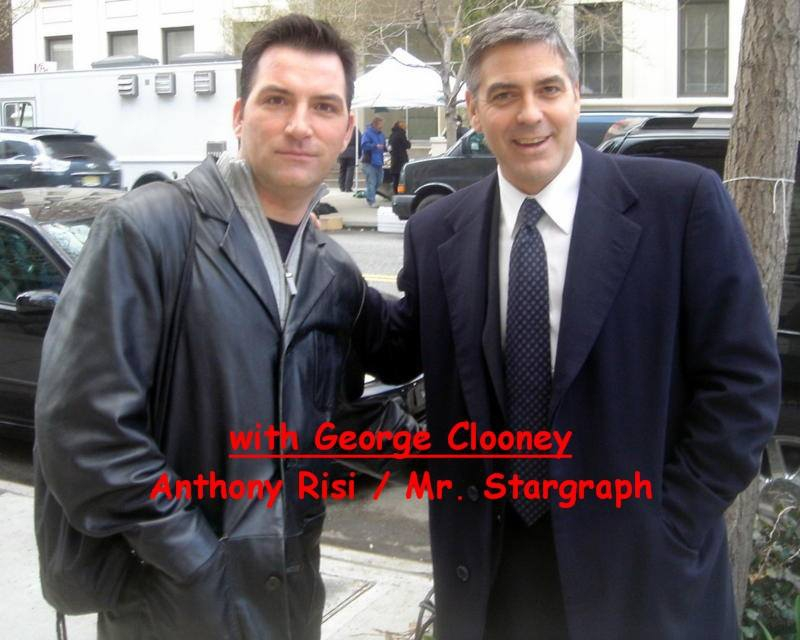 George Clooney Photo with RACC Autograph Collector Anthony Risi