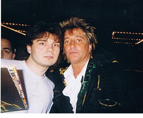 Rod Stewart Photo with Authentic Autograph Dealer Bob Pivoroff