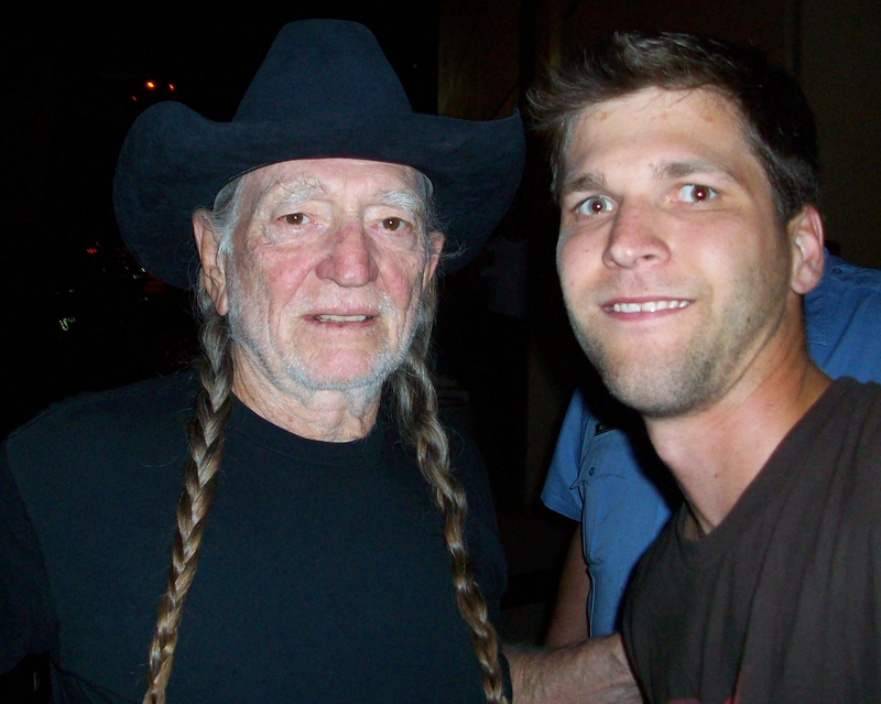 Willie Nelson Photo with Authentic Autograph Dealer All-Star Signatures, LLC
