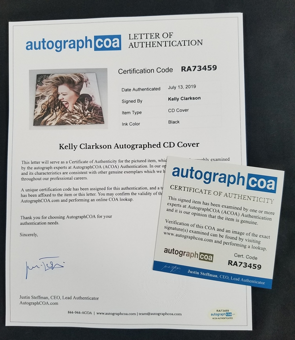 AutographCOA (ACOA)  Authentication's Letter of Authenticity (LOA) is included.