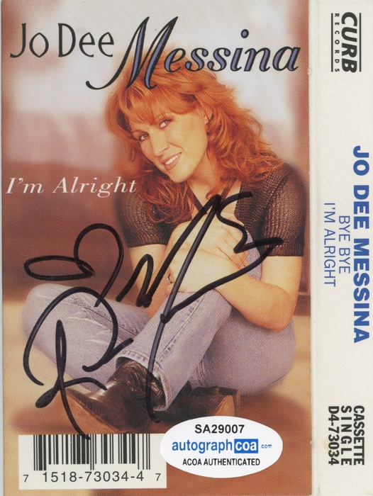 Jo Dee Messina Autographed Signed Cassette Cover BYE BYE I ...