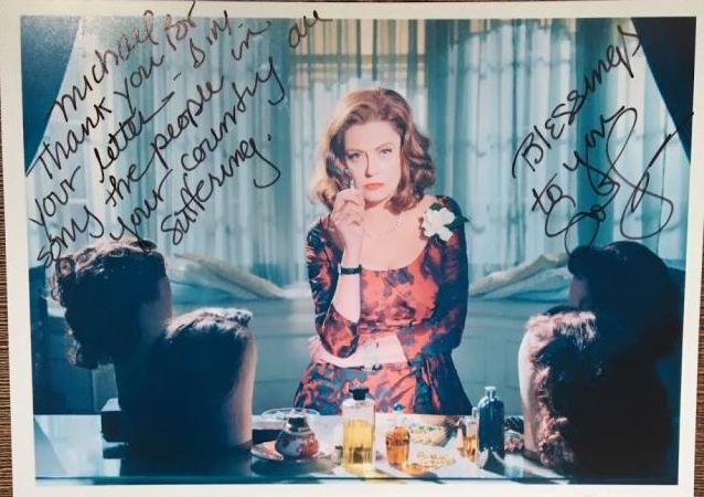 Susan Sarandon Autograph by Fanmail TTM