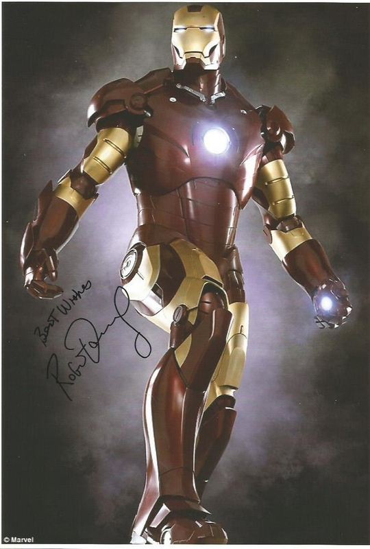 Robert Downey Jr. Autograph by Fanmail TTM