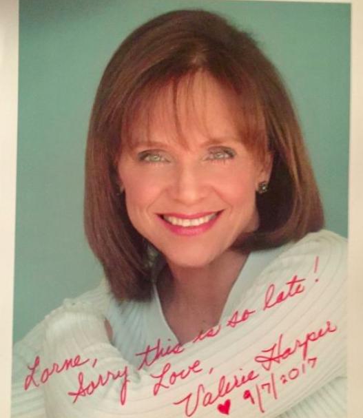 Valerie Harper Autograph by Fanmail TTM