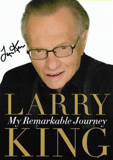 Larry King Autograph by Fanmail TTM
