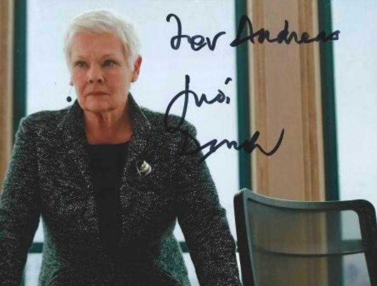 Judi Dench Autograph by Fanmail TTM