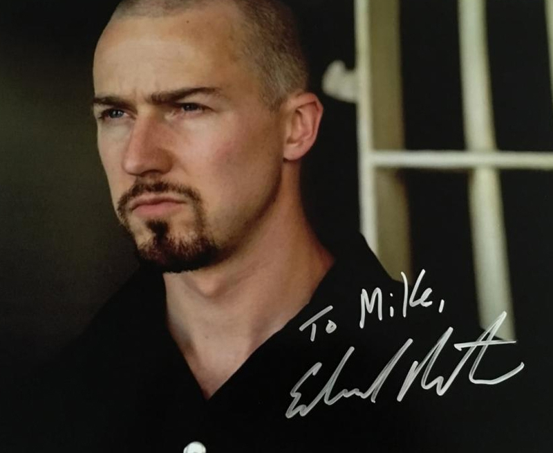 Edward Norton Autograph by Fanmail TTM