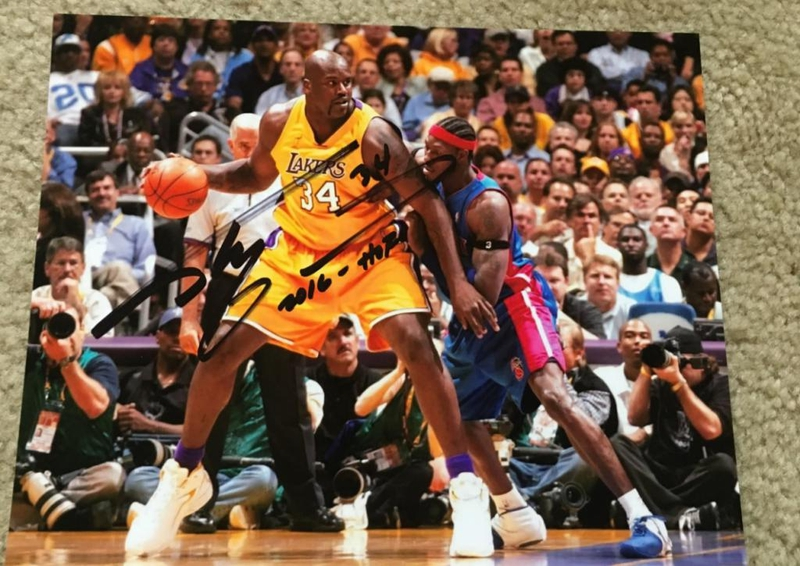 Shaquille O'Neal Autograph by Fanmail TTM