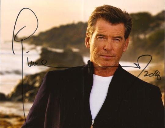 Pierce Brosnan Autograph by Fanmail TTM